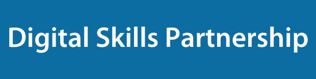Digital Skills Partnership on a blue background