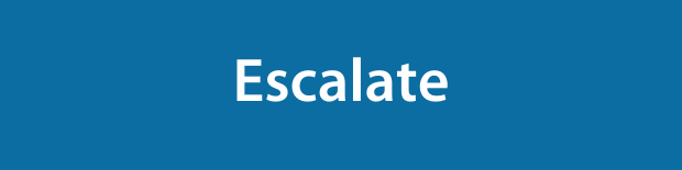 Escalate on a blue background