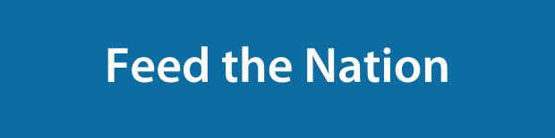 Feed the Nation on a blue background