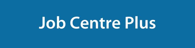 Job Centre Plus on a blue background