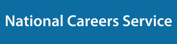 National Careers Service on a blue background