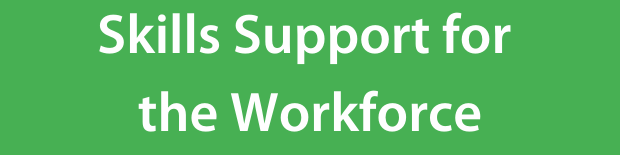Skills Support for the workforce on a green background