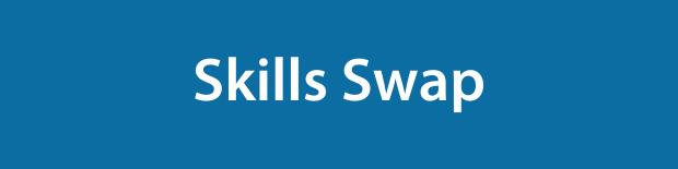 Skills Swap on a blue background