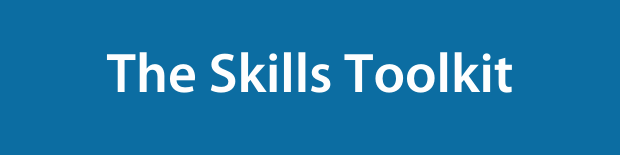 The Skills Toolkit on a blue background