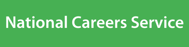 National Careers Service on a green background