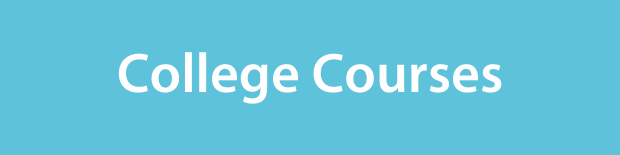 College Courses on a light blue background