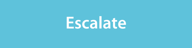 Escalate on a light blue background