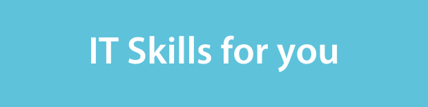 IT skills for you on a light blue background.