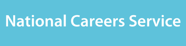 National Careers Service on a light blue background