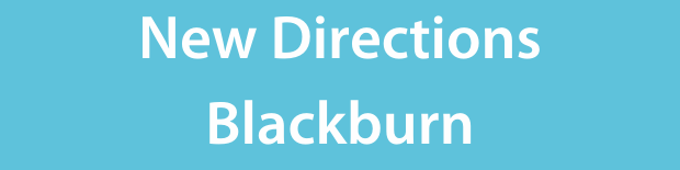 New directions Blackburn on a light blue background