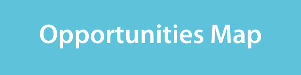 Opportunities map on a light blue background