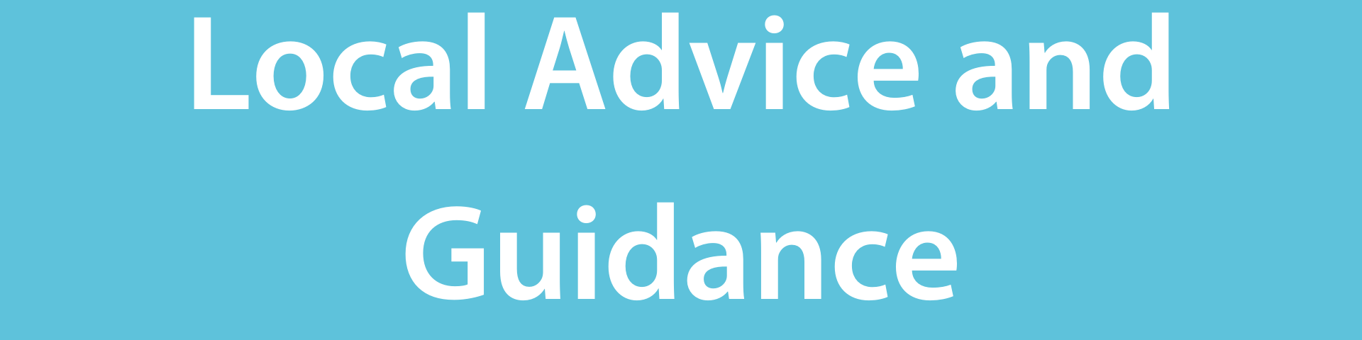 Local advice and guidance