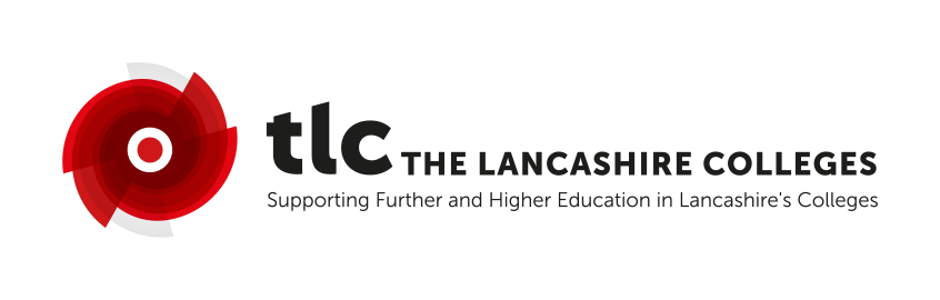 The Lancashire Colleges logo. Supporting Further and Higher Education in Lancashire's Colleges.